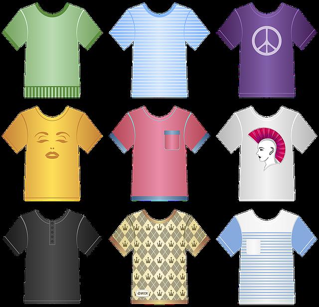 barevné tričko